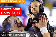 Saints Stun Colts, 31-17