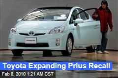 Toyota Expanding Prius Recall