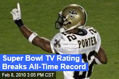 Super Bowl TV Rating Breaks All-Time Record