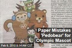 Paper Mistakes 'Pedobear' for Olympic Mascot