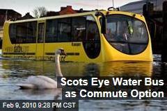 Scots Eye Water Bus as Commute Option