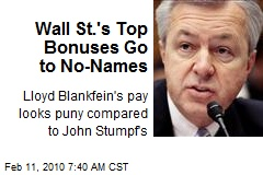Wall St.'s Top Bonuses Go to No-Names