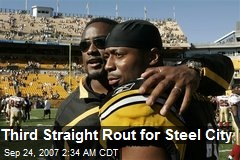 Third Straight Rout for Steel City