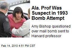 Ala. Prof Was Suspect in 1993 Bomb Attempt