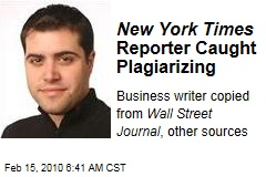 New York Times Reporter Caught Plagiarizing