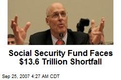 Social Security Fund Faces $13.6 Trillion Shortfall