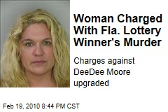 Woman Charged With Fla. Lottery Winner's Murder