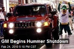 GM Begins Hummer Shutdown