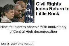 Civil Rights Icons Return to Little Rock