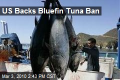 US Backs Bluefin Tuna Ban