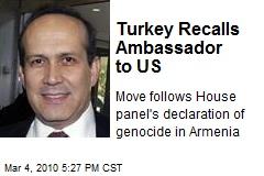 Turkey Recalls Ambassador to US