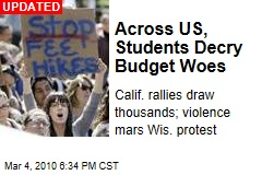 Across US, Students Decry Budget Woes