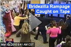 Bridezilla Rampage Caught on Tape
