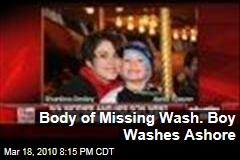 Body of Missing Wash. Boy Washes Ashore