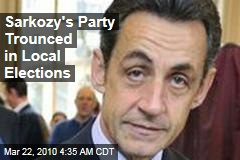 Sarkozy's Party Trounced in Local Elections