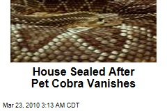 House Sealed After Pet Cobra Vanishes