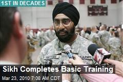 Sikh Completes Basic Training