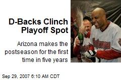 D-Backs Clinch Playoff Spot