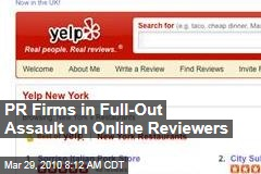 PR Firms in Full-Out Assault on Online Reviewers