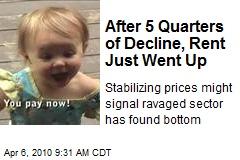 After 5 Quarters of Decline, Rent Just Went Up