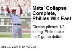 Mets' Collapse Complete, Phillies Win East
