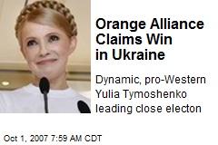 Orange Alliance Claims Win in Ukraine