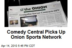 Comedy Central Picks Up Onion Sports Network