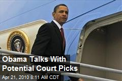 Obama Talks With Potential Court Picks