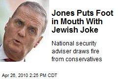 Jones Puts Foot in Mouth With Jewish Joke