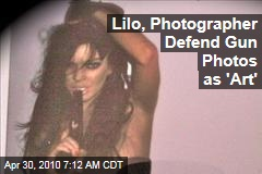 Lilo, Photographer Defend Gun Photos as 'Art'