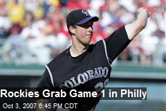 Rockies Grab Game 1 in Philly