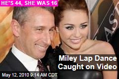 Miley Lap Dance Caught on Video