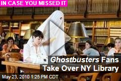 Ghostbusters Fans Take Over NY Library