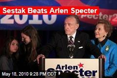 Sestak Beats Arlen Specter