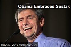 Obama Embraces Sestak