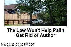 The Law Won't Help Palin Get Rid of Author