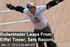 Rollerblader leaps from Eiffel Tower sets record