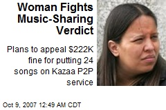 Woman Fights Music-Sharing Verdict