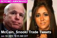 McCain, Snooki Trade Tweets