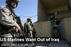 US Marines Want Out of Iraq