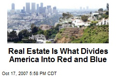 Real Estate Is What Divides America Into Red and Blue