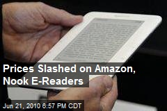 Prices Slashed on Amazon, Nook E-Readers