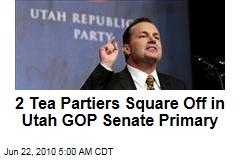 2 Tea Partiers Square Off in Utah GOP Senate Primary