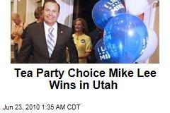 Tea Party Choice Mike Lee Wins in Utah