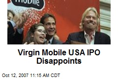 Virgin Mobile USA IPO Disappoints