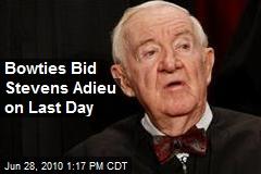 Bowties Bid Stevens Adieu on Last Day
