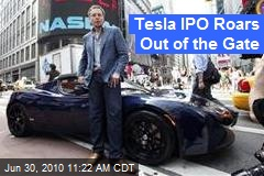 Tesla IPO Roars Out of the Gate