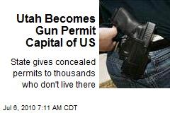Utah Becomes Gun Permit Capital of US