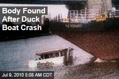 Body Found After Duck Boat Crash