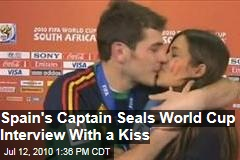 Spain's Captain Celebrates World Cup Win with Kiss
